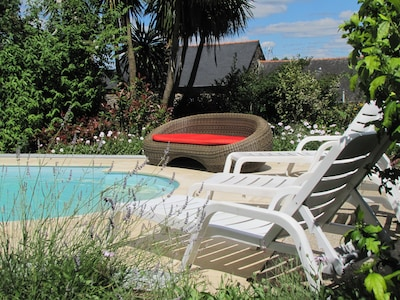 Relax by the secluded pool