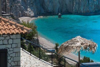 Plage de Milos, Lefkada, Région des îles Ioniennes, Grèce