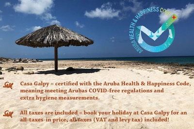 Casa Galpy, worry free vacation: Health & Happiness Certificate and tax included