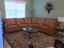 Comfortable leather sectional