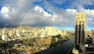 Rainbow sightings quite common, and the rain rarely makes it to Waikiki.