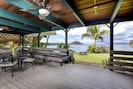 Huge covered lanai with ocean view