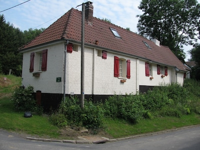 view of the cottage from the road