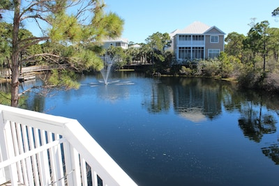 Private pond view from living deck!