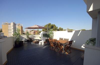Fantastische Terrasse / neues Haus / Muchavista Strand / San Juan Alicante / Golf / Wifi