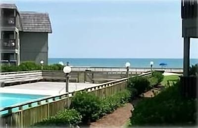 View of Pool - Beach from Condo first floor Balcony