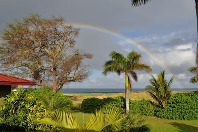 Wake up to a full rainbow from master bedroom suite 's deck