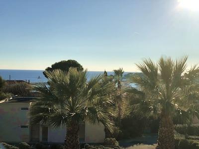 vue mer depuis la terrasse