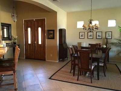 Dining room and front entrance
