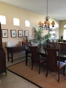 Dining room looking towards living room