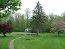 View from front porch in Spring