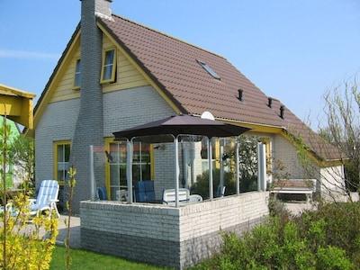 Ferienhaus Strandslag 166 - windgeschützte Terrasse
