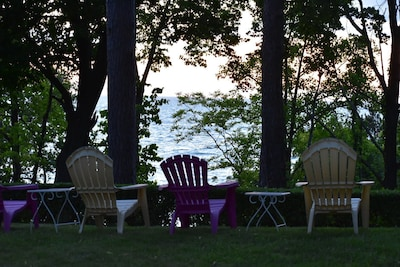 Relax in our Adirondack chairs