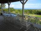 The deck at La Solana, perfect for star gazing, a meal or a nap in the hammock!