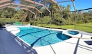 Very private pool deck