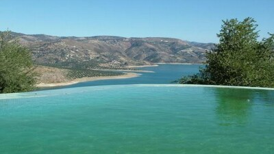 View of Lake Iznajar from Infinity Edge Pool