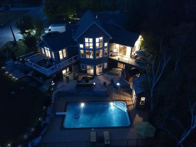 Aerial View at Night