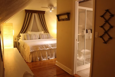 Upstairs King Bedroom with full shower Bathroom