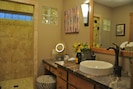 Master bath with spacious walk in shower & dual shower heads