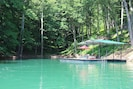 PRIVATE COVE AND DOCK,GREAT FOR FAMILY SWIMMING