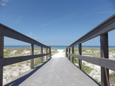 Beach access steps from the front door!