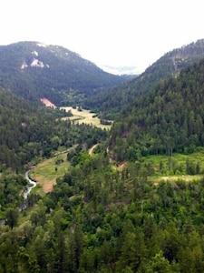 Enjoy hiking, fishing, gold-panning or swimming in beautiful Whitewood Canyon