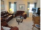 Our family room with large flat screen TV