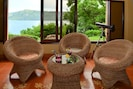Enjoy the cool breezes and view from the sitting room.
