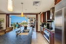 Picture cooking in this kitchen with high end appliances and spectacular view