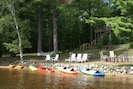 6 kayaks, 3 SUPs, and paddleboat all included with your stay