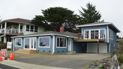 Front of Pebble Beach View Vacation Rental (expanded)--Main house on left.