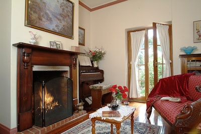 Cosy open fire sitting room