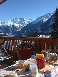 Appartement dans résidence de style chalet - vue sur le massif de la Vanois