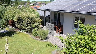 wunderschönes Grundstück mit 2 Ferienhäusern, Sauna, Waldrand, ruhige Lage