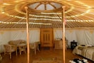 Yurt inside - toward entrance door