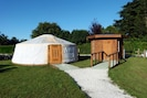 Yurt and toilet building