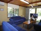Spacious lounge seating for 10 guests, Freeview TV, DVD, DVR, internet TV box