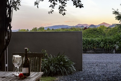 Relax with a view of the Richmond Ranges and Tasman Bay