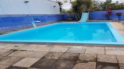 Casa Em Caraguá Com Piscina E Churrasqueira  Perto Do Novo Shopping Serramar