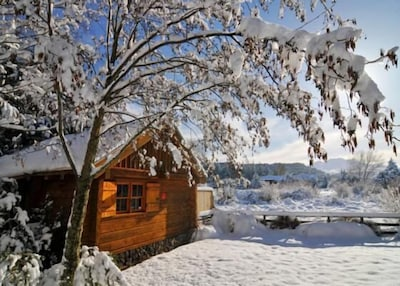 The Cabin in Snow