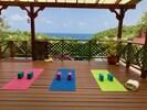 Yoga with a view at Villa Capri