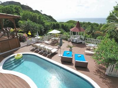 Deck at Villa Capri St. Lucia