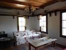 Living Room, old door coffe table