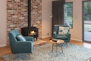 Beautiful log fire and reading nook, heats the whole house