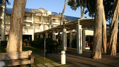 Entry to the resort