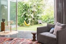 bright living space with views on private garden
