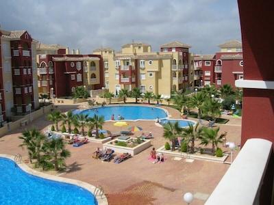 Pools area from balcony