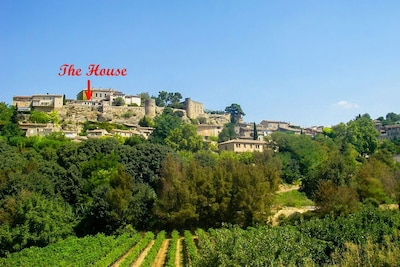 The house is at the highest point of Menerbes, with amazing views