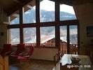 grandes baies vitrées sur la montagne
