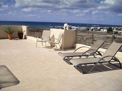 Sun Loungers on large Balcony